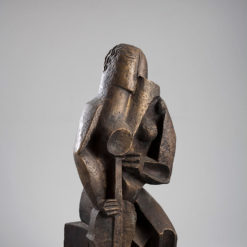 Zadkine Ossip, Femme assise au luth