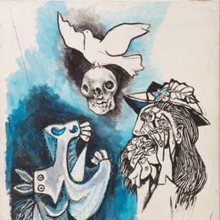 Guttuso Renato, Lamento per la morte di Picasso